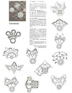 Crochet Snowflake Pattern, Crochet Snowflakes, Crochet Motif, Crochet Doilies, Crochet Stitches, Crochet Christmas Ornaments, Christmas Crafts, Wrist Warmers, Tea Lights