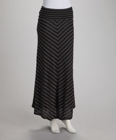 Take a look at this Black Stripe Maxi Skirt by Jazzy Martini on #zulily today!  28
