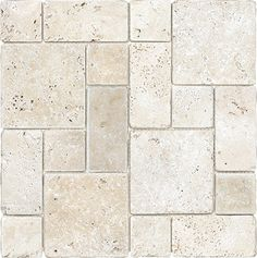 Ellis + Fisher Avorio Travertine Roman Pattern 12 x 12 Stone Mosaic Tile Travertine Backsplash, Travertine Floors, Stone Flooring, Vinyl Flooring, Kitchen Flooring, Flooring Ideas, Travertine Bathroom, Patio Flooring, Stone Mosaic Tile