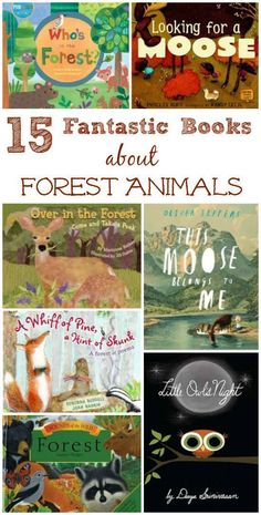 Awesome books about woodland animals and life in the forest! Great list for forest school activities, read before a hike or preschool forest theme in the classroom! Both fiction & nonfiction titles that are perfect for kids ages 2 - 12 years. Preschool Books, Book Activities, Preschool Kindergarten, Nature Activities, Preschool Winter, Sequencing Activities, Preschool Themes, Summer Activities, Forest Animals