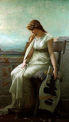 Jules Lefebvre Sappho 1884 Huile H. 188 x LA. 108 cm Musée des beaux-arts de Montréal