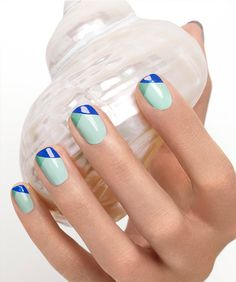 tip it off - essie looks - mint candy apple + turquoise & caicos + butler please