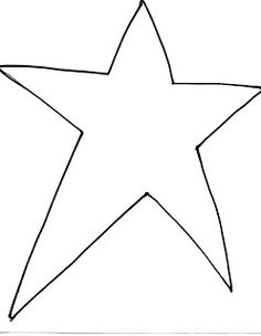 Here's a little more JOY for you. :) Here's the pattern I made. I just drew a star that filled a regular sheet of copy paper, and tried t. Free Primitive Stencils, Primitive Patterns, Free Stencils, Wood Patterns, Primitive Crafts, Star Patterns, Felt Patterns, Star Template Printable, Leaf Template