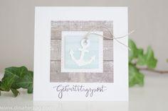 card nautical anchor Karte maritim Geburtstagspost