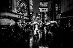 A Calm In The Midst Of Chaos by Jonathan Bengtsson - Osaka, Japan. What Happened To Us, We Are The World, Black And White Photography, Street Photography, Calm, Osaka Japan, Cities, Asia, Lost