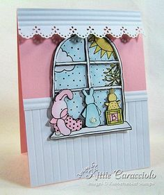 Super cute card! Love the valance and paneling.