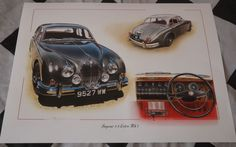 JAGUAR 3.8 LITRE MARK Mk 2 II SILVER PAINTING LIMITED EDITION PRINT ARTWORK NEW Silver Paint, Limited Edition Prints, Artwork Prints, Jaguar, Hand Painted, Gallery, Painting, Ebay