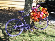 Bicycles+with+flowers | Bicycle with Flowers | Flickr - Photo Sharing!