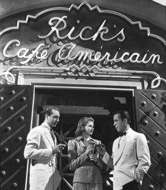 Ingrid Bergman, Humphrey Bogart and Paul Henreid, Casablanca - 1942