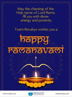 We hope that Lord Rama illuminates your life with good health and fortune. Wishing you a very happy Ramanavami from Team Revalsys #Revalsys #CreatingPossibilities #RamaNavami #RamaNavami2021 #SriRamaNavami #SriRamaNavami2021 #RamaNavamiWishes #SriRamaNavamiWishes Corporate Presentation, Wish, Lord, Positivity, Health, Happy, Health Care, Ser Feliz, Optimism