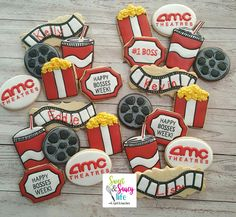 Movie theater themed cookies, AMC theaters