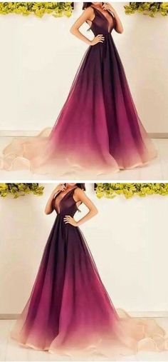 2018 Custom Made Charming Prom Dress, Sleeveless Evening Dress, Deep V-Neck Prom Dress V Neck Prom Dresses, Ball Gowns Prom, Sexy Dresses, Royal Dresses, Quince Dresses, Pretty Dresses, Beautiful Dresses, Dress And Heels, Celebrity Dresses