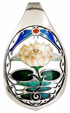 Sterling silver and enamel pendant by artist Kristin Anderson, featuring her signature metalwork to accent the lotus blossom. Enamel Jewelry, Sterling Silver Jewelry, Silver Jewellery, Kristin Anderson, Vitreous Enamel, Handcrafted Jewelry, Techno, Metal Working, Jewelry Crafts