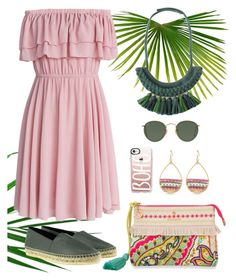 """""""Pink and Green"""" by gicreazioni ❤ liked on Polyvore featuring Ray-Ban, Spartina 449, Chicwish, Kenzo, Casetify, etsy, necklace and handmade"""