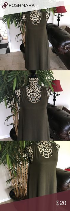 Army green summer dress. New with tags large Army green summer dress. New with tags large Zenana Outfitters Dresses Midi