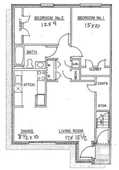 Apartment Floor Plans 2 Bedroom free floor plans for small houses | free floor plans, smallest