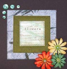 Flower Theme Paper Quilt Tutorial by Sue Bleiweiss