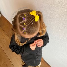 Toddler Hair Dos, Easy Toddler Hairstyles, Cute Little Girl Hairstyles, Baby Girl Hairstyles, Princess Hairstyles, Anna Hair, Girl Hair Dos, Hair Today, Marie