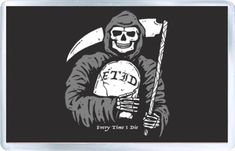 Acrylic Fridge Magnet. Size (Approx): 3 x 2 inches (8 x 5 cm). Every Time I Die, Gates Of Hell, Follow The Leader, Left Alone, Blink 182, Death Metal, Magnets, Black And White, Illustration