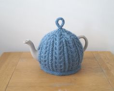 Hand Knitted Tea Cosy Powder Blue - IMBER