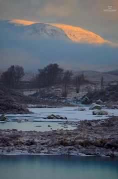 Early Morning Sunshine in Rannoch Moor, Scotland