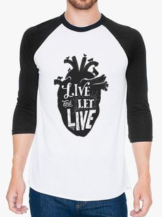 Live and Let Live Unisex Baseball Tee | Triple Threads