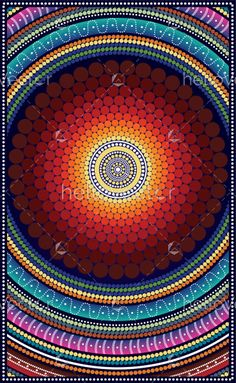 Aboriginal art vector painting is part of Dot Art painting - Illustration based on aboriginal style of dot painting Dot Art Painting, Mandala Painting, Abstract Art, Mandala Canvas, Mandala Art, Arts And Crafts For Teens, Aboriginal Art, Henri Matisse, Painting Techniques