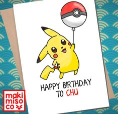 Sweet image for pokemon birthday card printable