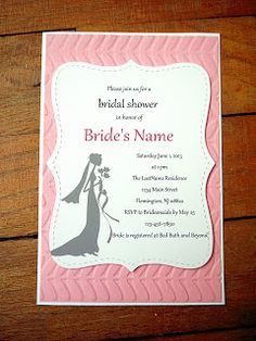 Bridal shower card wedding shower invitations favors make to bridal shower invites mds by cards and paper crafts at splitcoaststampers filmwisefo Images