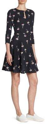 Armani Jeans Armani Jeans Floral-Print Keyhole Dress