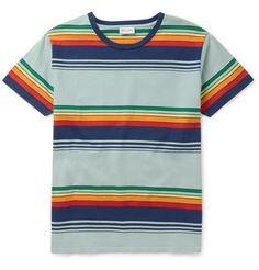 fcf2f410 Slim-Fit Striped Cotton T-Shirt | MR PORTER Polo Jackets, Vintage Patches