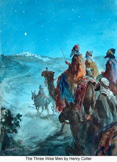 """Matthew 2:1 KJV Now when Jesus was born in Bethlehem of Judaea in the days of Herod the king, behold, there came wise men from the east to Jerusalem, .......... It never specifies in the Bible how many wise men came. I believe man came up with 3 because of the gifts that were brought. I like this picture because it shows more than """"3"""" wise men. We don't know how many came to see the Lord Jesus ♡"""