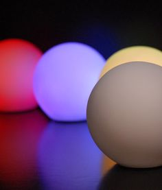 Small Glowing Orbs 3-1/4 in. LED   (program to color) $4.29 each  / 10 for $3.89 each