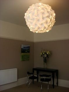 This Large White Ruffled Pendant Light Is The Perfect Statement Piece For Any Home Modern Or Otherwise A Soft When Unlit Lamp Glows