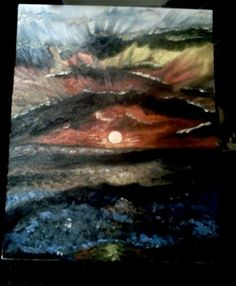 oil paint seascape