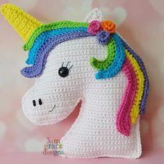 Unicórnios feitos de crochê, olha só que coisinhas mais lindinhas!!!