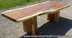 Hardwood Table from Indonesia. Wooden Slab from Bali Indonesia. Natural Wood Table