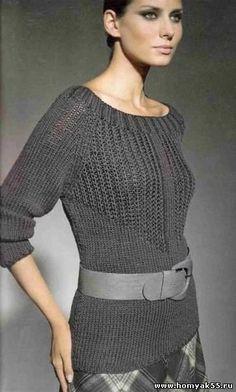 Пуловер с узором из патентных петель. Обсуждение на LiveInternet - Российский Сервис Онлайн-Дневников