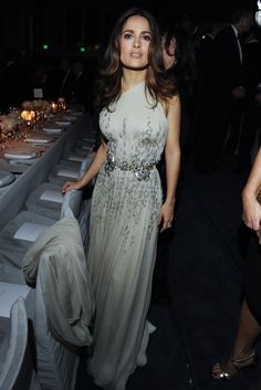 Salma Hayek in Gucci at LACMA's third annual Art + Film Gala. [Photo by Amy Graves]