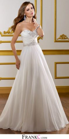 sweetheart wedding dress,chiffon wedding dress