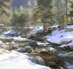 Tom Hughes | Winter Sun. Oil on canvas