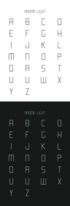 AROMA free font by Laura Pol, via Behance