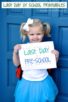 FREE First/Last Day of School Printables