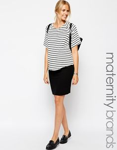 New Look Maternity Textured Pencil Skirt