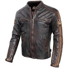 46369e4aafc Blouson Moto Vintage Zolki - Cuir Tokyo