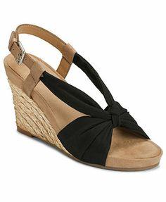 49e89a3cd0ed Aerosoles Plush Pillow Platform Wedge Sandals Shoes - Sandals   Flip Flops  - Macy s