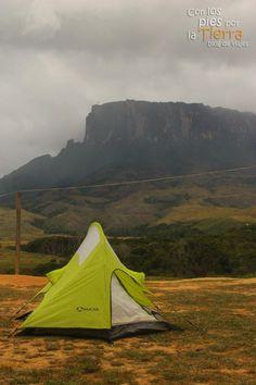 En el Monte Roraima nublado, Venezuela