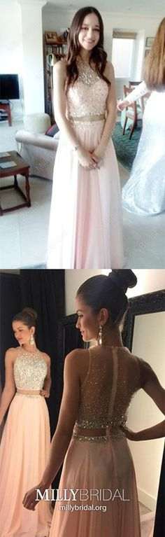 Two Piece Prom Dresses Pink, Long Formal Evening Dresses For Teens, A Line Military Ball Dresses Modest, Sparkly Wedding Party Dresses Chiffon Different Prom Dresses, Prom Dresses Long Modest, Vintage Formal Dresses, Formal Dresses For Teens, Best Prom Dresses, Pink Prom Dresses, Formal Dresses For Weddings, Formal Evening Dresses, Party Dresses