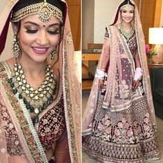 Indian weddings are loved for their grandeur, liveliness, and use of colors, making a complete show in itself. The big fat Indian weddings are well Indian Bridal Fashion, Indian Wedding Outfits, Bridal Outfits, Indian Outfits, Bridal Dresses, Indian Weddings, Wedding Attire, Bridal Dress Design, Bridal Style