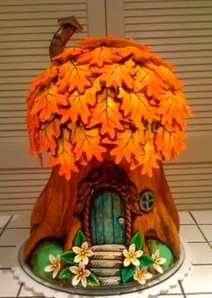 Spritely Gnome House Cake--Cake by Truong, courtesy of Cake Wrecks. Fairy House Cake, Clay Fairy House, Fairy Houses, Gnome House, Toadstool Cake, Fall Birthday, Birthday Cake, Clay Fairies, Cake Wrecks